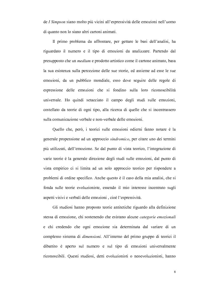 Anteprima della tesi: Smascherando Homer: indici visivi e verbali delle emozioni nei cartoni animati, Pagina 3