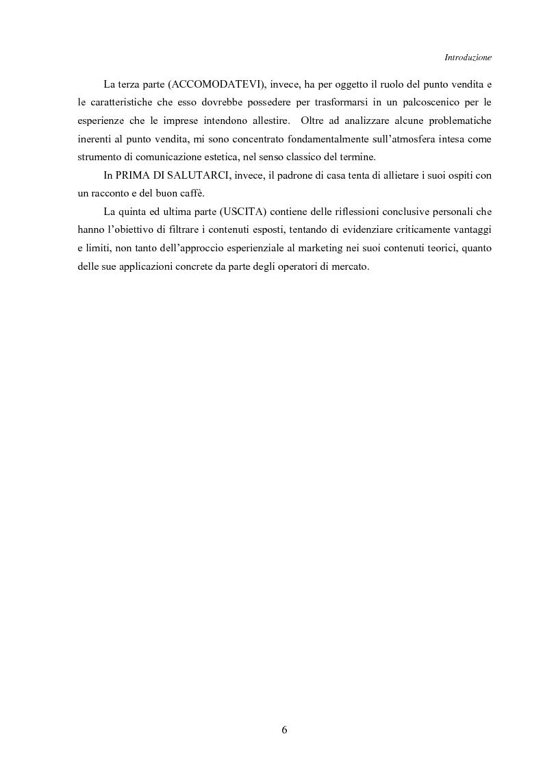 Anteprima della tesi: Marketing esperienziale e punto vendita, Pagina 2