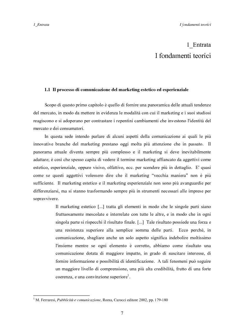 Anteprima della tesi: Marketing esperienziale e punto vendita, Pagina 3