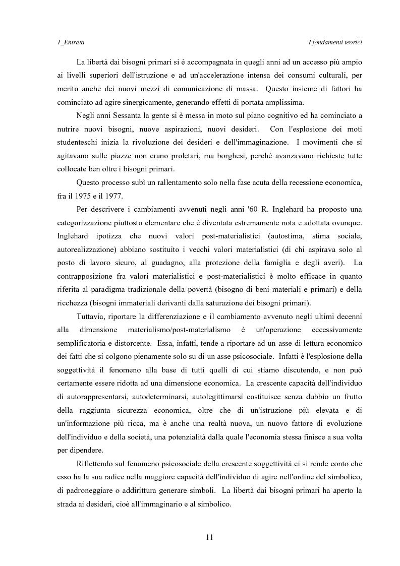 Anteprima della tesi: Marketing esperienziale e punto vendita, Pagina 7