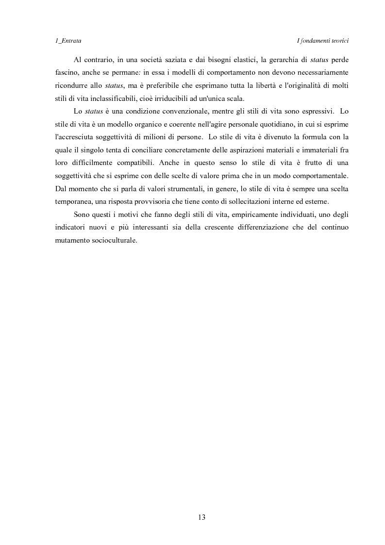 Anteprima della tesi: Marketing esperienziale e punto vendita, Pagina 9