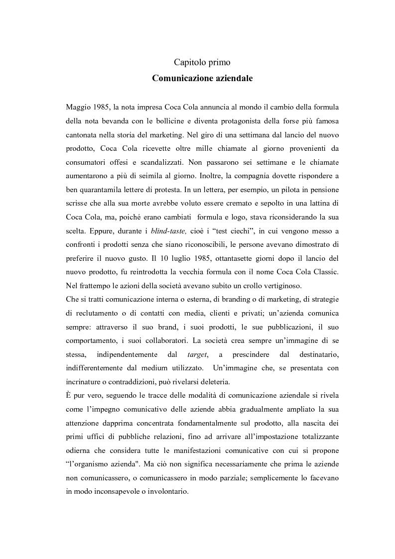 Anteprima della tesi: Comunicazione e l'identità oltre la comunicazione - Proiezioni e riflessioni sulla comunicazione aziendale delle Big Four Società di Consulenza Aziendale (PWC, KPMG, Ernst & Young, Deloitte), Pagina 1