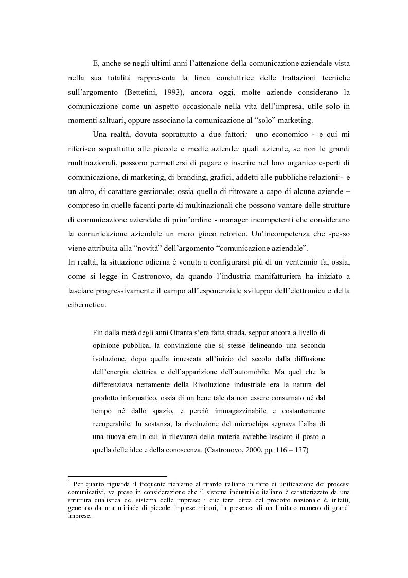 Anteprima della tesi: Comunicazione e l'identità oltre la comunicazione - Proiezioni e riflessioni sulla comunicazione aziendale delle Big Four Società di Consulenza Aziendale (PWC, KPMG, Ernst & Young, Deloitte), Pagina 2