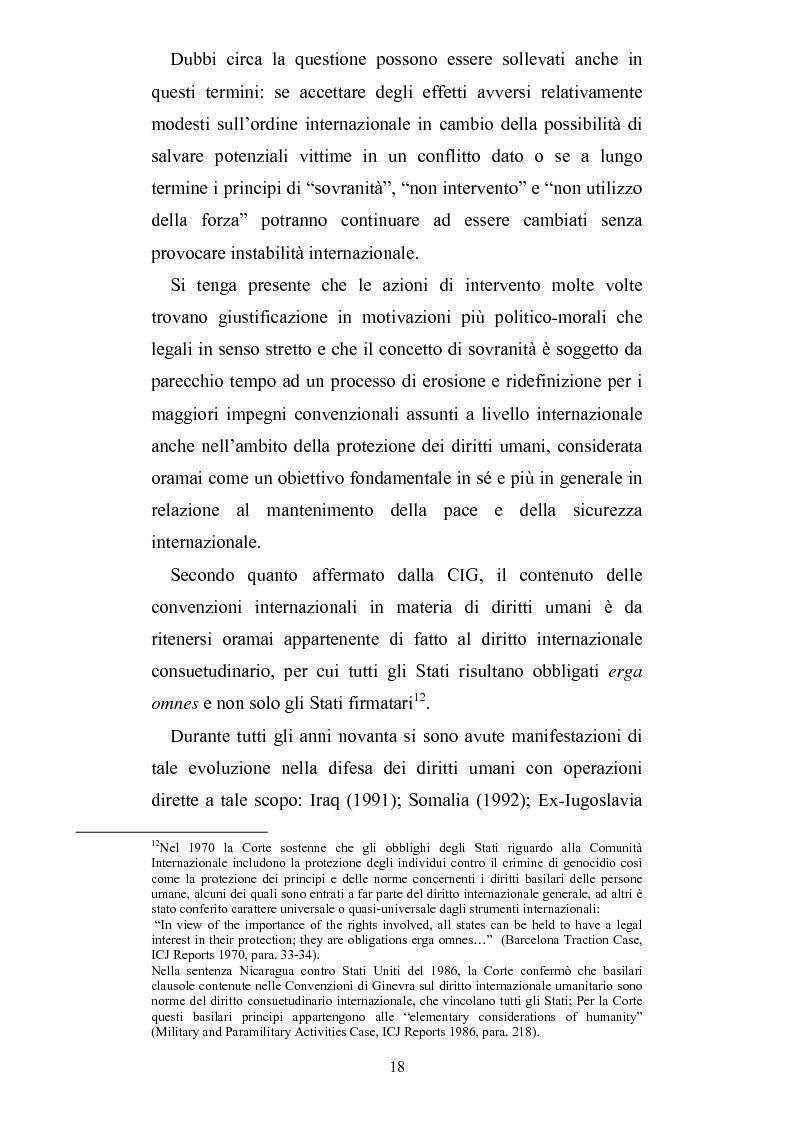 Anteprima della tesi: Intervento umanitario e diritto internazionale, Pagina 11