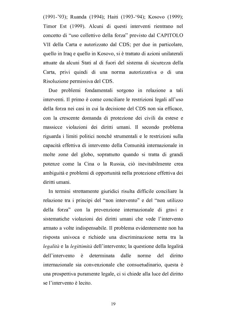 Anteprima della tesi: Intervento umanitario e diritto internazionale, Pagina 12