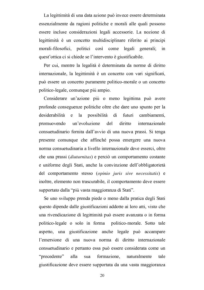 Anteprima della tesi: Intervento umanitario e diritto internazionale, Pagina 13