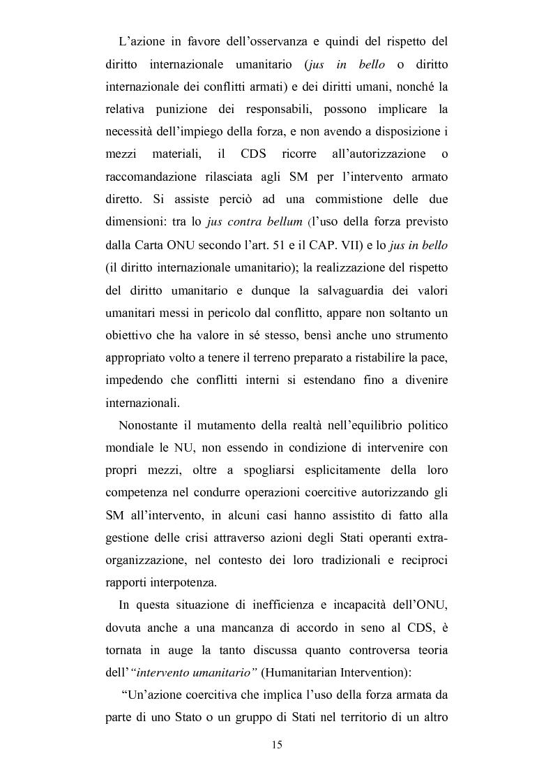 Anteprima della tesi: Intervento umanitario e diritto internazionale, Pagina 8