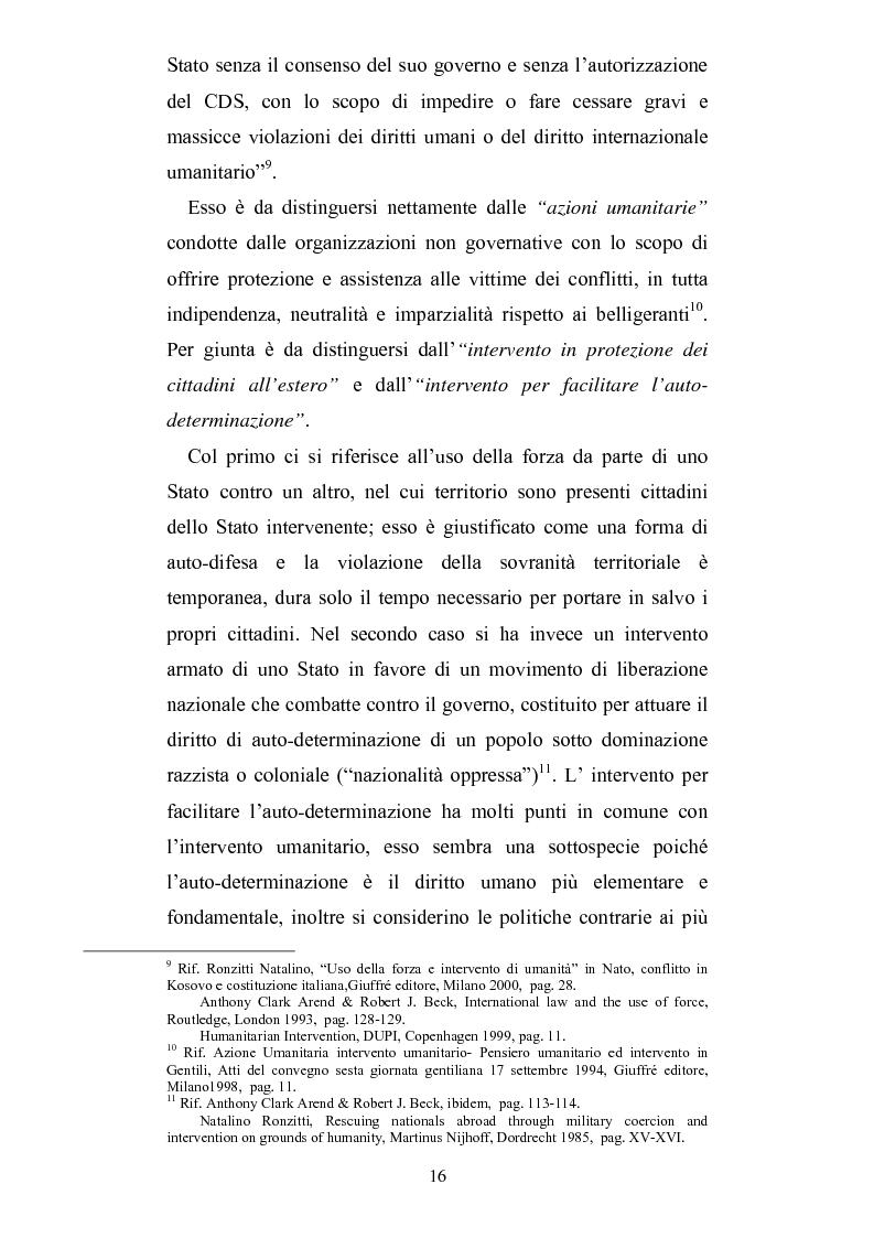 Anteprima della tesi: Intervento umanitario e diritto internazionale, Pagina 9