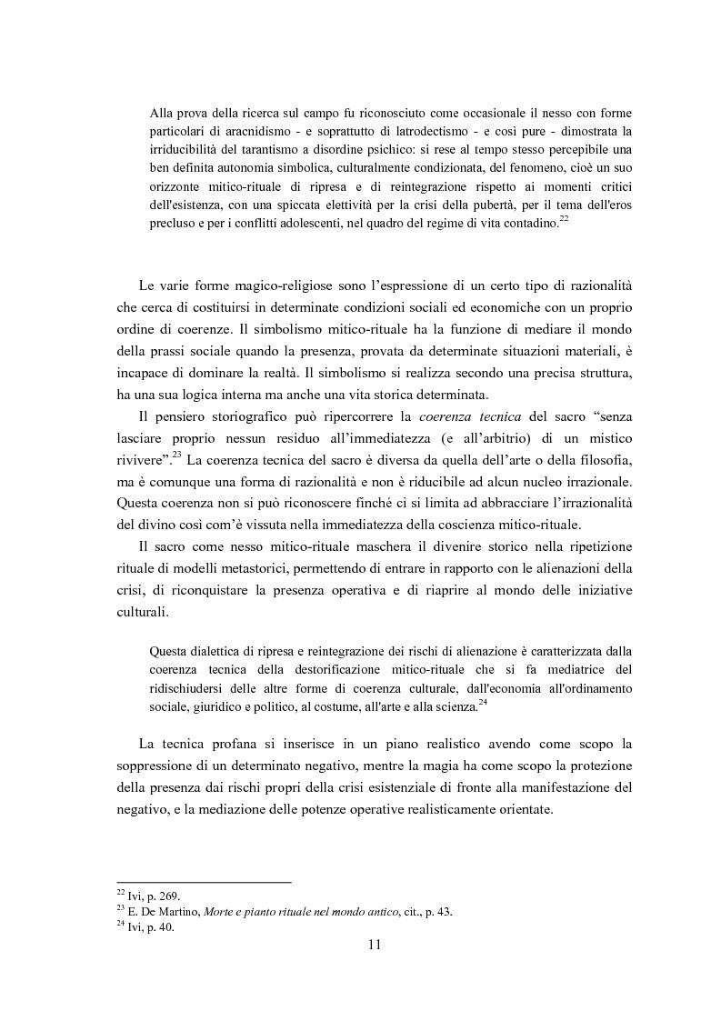 Anteprima della tesi: Ernesto de Martino e l'esorcismo culturale: dal simbolo mitico-rituale all'umanesimo integrale, Pagina 11