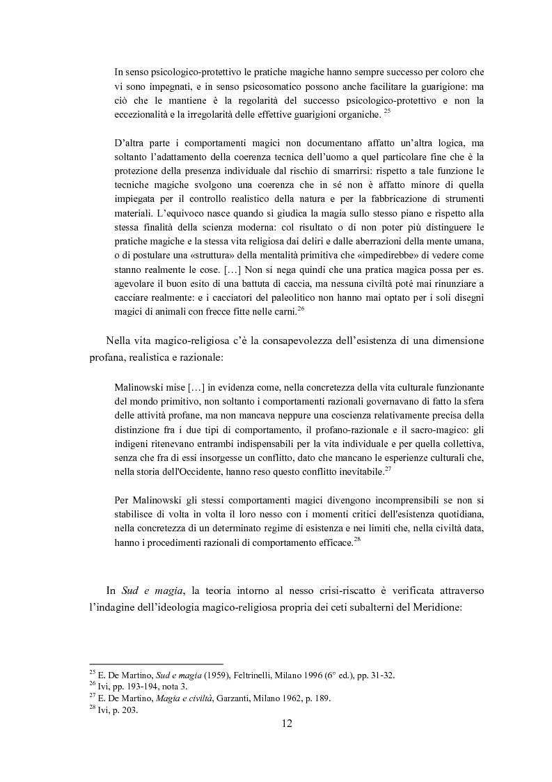 Anteprima della tesi: Ernesto de Martino e l'esorcismo culturale: dal simbolo mitico-rituale all'umanesimo integrale, Pagina 12