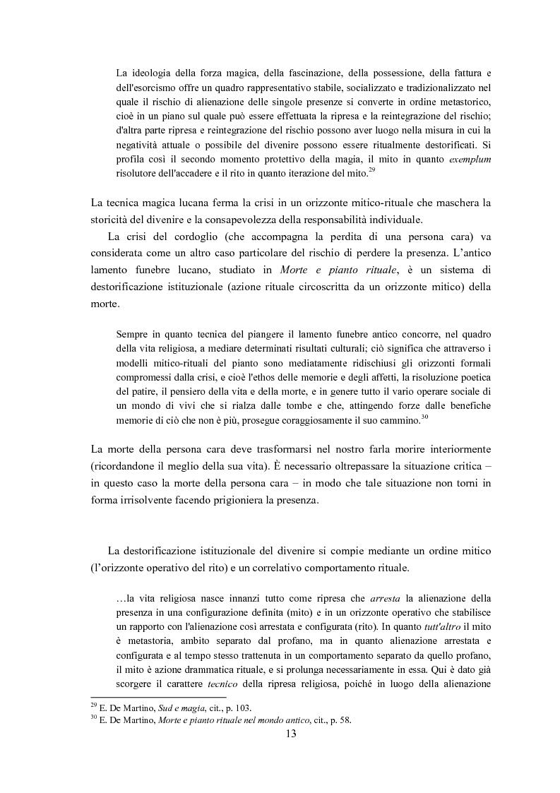 Anteprima della tesi: Ernesto de Martino e l'esorcismo culturale: dal simbolo mitico-rituale all'umanesimo integrale, Pagina 13
