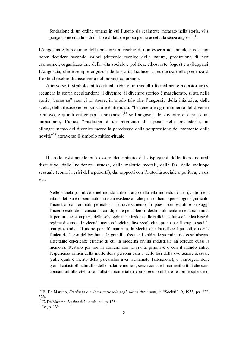 Anteprima della tesi: Ernesto de Martino e l'esorcismo culturale: dal simbolo mitico-rituale all'umanesimo integrale, Pagina 8