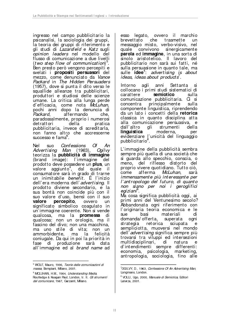 Anteprima della tesi: La pubblicità a Stampa nei Settimanali Inglesi, Pagina 2
