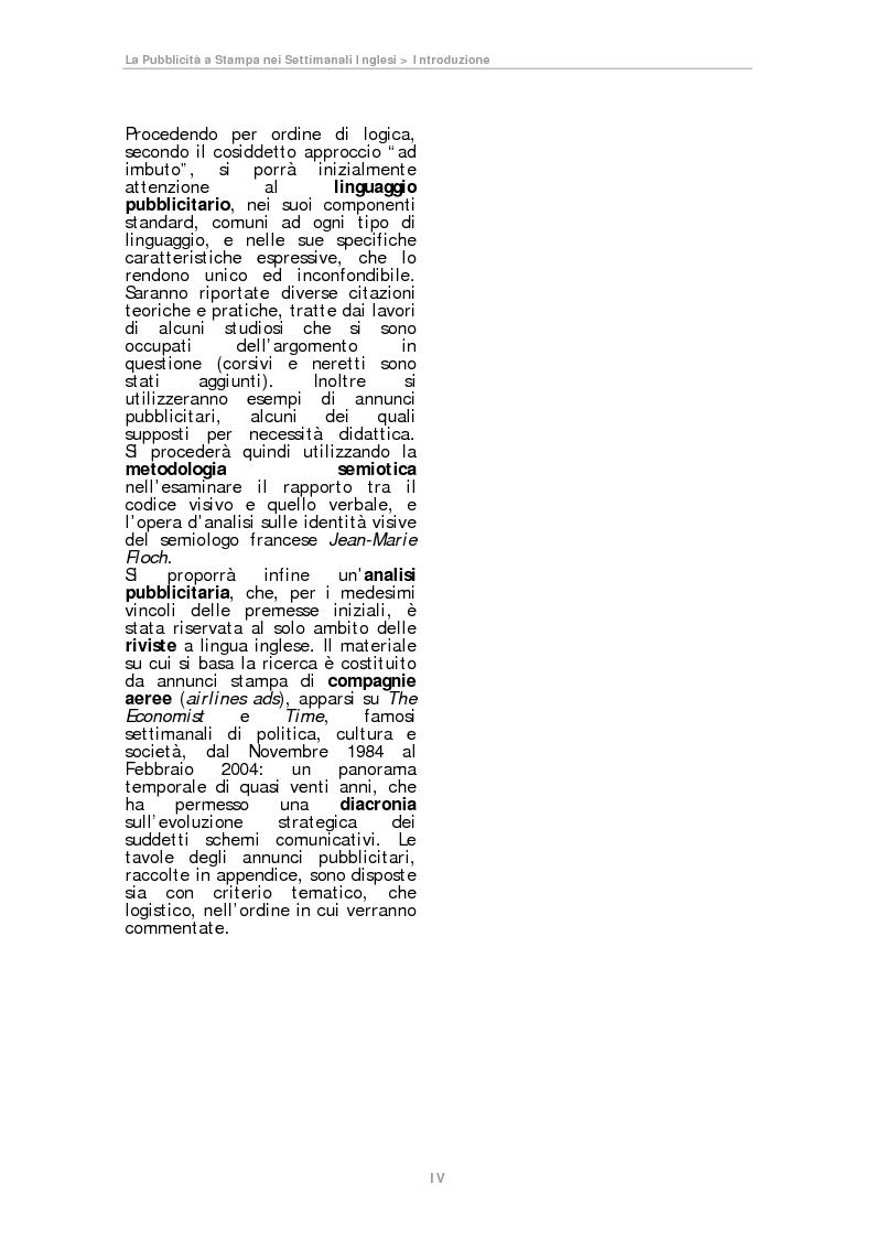 Anteprima della tesi: La pubblicità a Stampa nei Settimanali Inglesi, Pagina 4