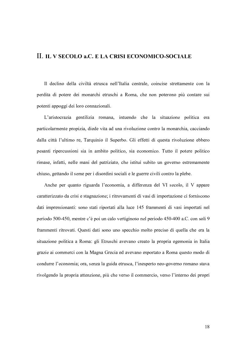 Anteprima della tesi: Storia economica di Roma antica, dalla fondazione della città al crollo dell'Impero, Pagina 15