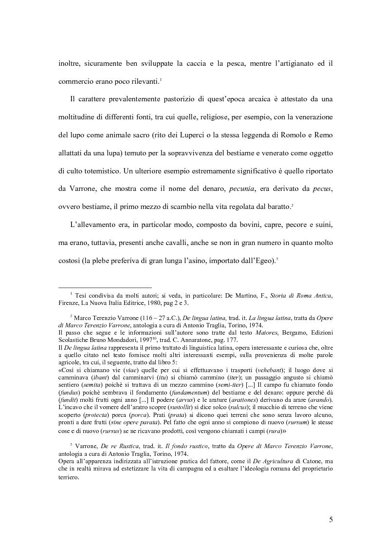 Anteprima della tesi: Storia economica di Roma antica, dalla fondazione della città al crollo dell'Impero, Pagina 2