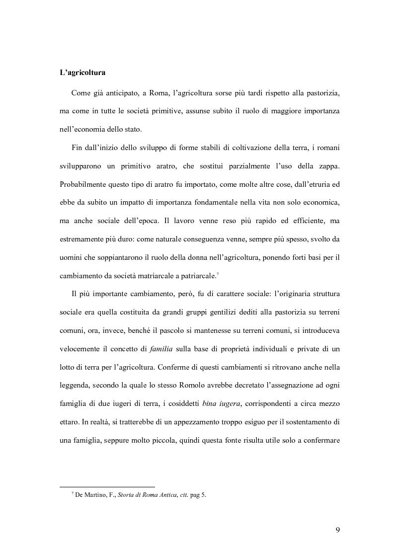 Anteprima della tesi: Storia economica di Roma antica, dalla fondazione della città al crollo dell'Impero, Pagina 6