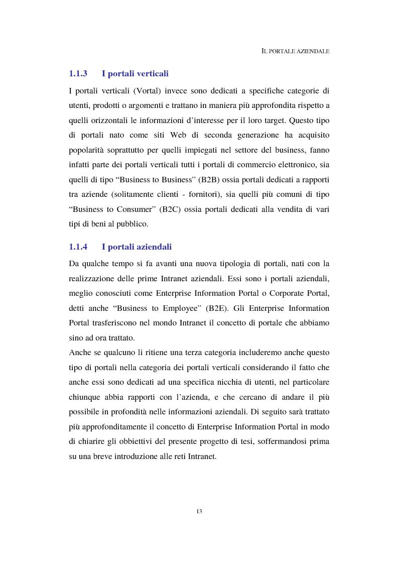 Anteprima della tesi: Progetto e realizzazione di un Enterprise Information Portal, Pagina 5