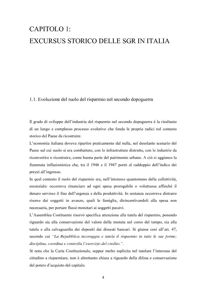 Anteprima della tesi: Efficienza e redditività delle Società di Gestione del Risparmio, Pagina 1