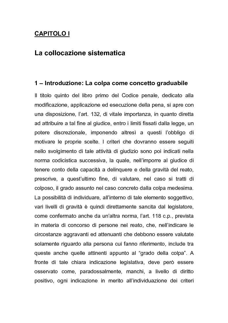 Anteprima della tesi: Il grado della colpa, Pagina 1