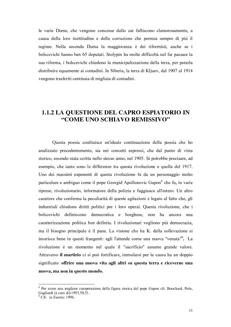 Anteprima della tesi: Kljuev le verità nelle poesie e nella realtà. Kljuev ed alcuni pensatori tedeschi. (Dubbi, problemi e controversie), Pagina 12