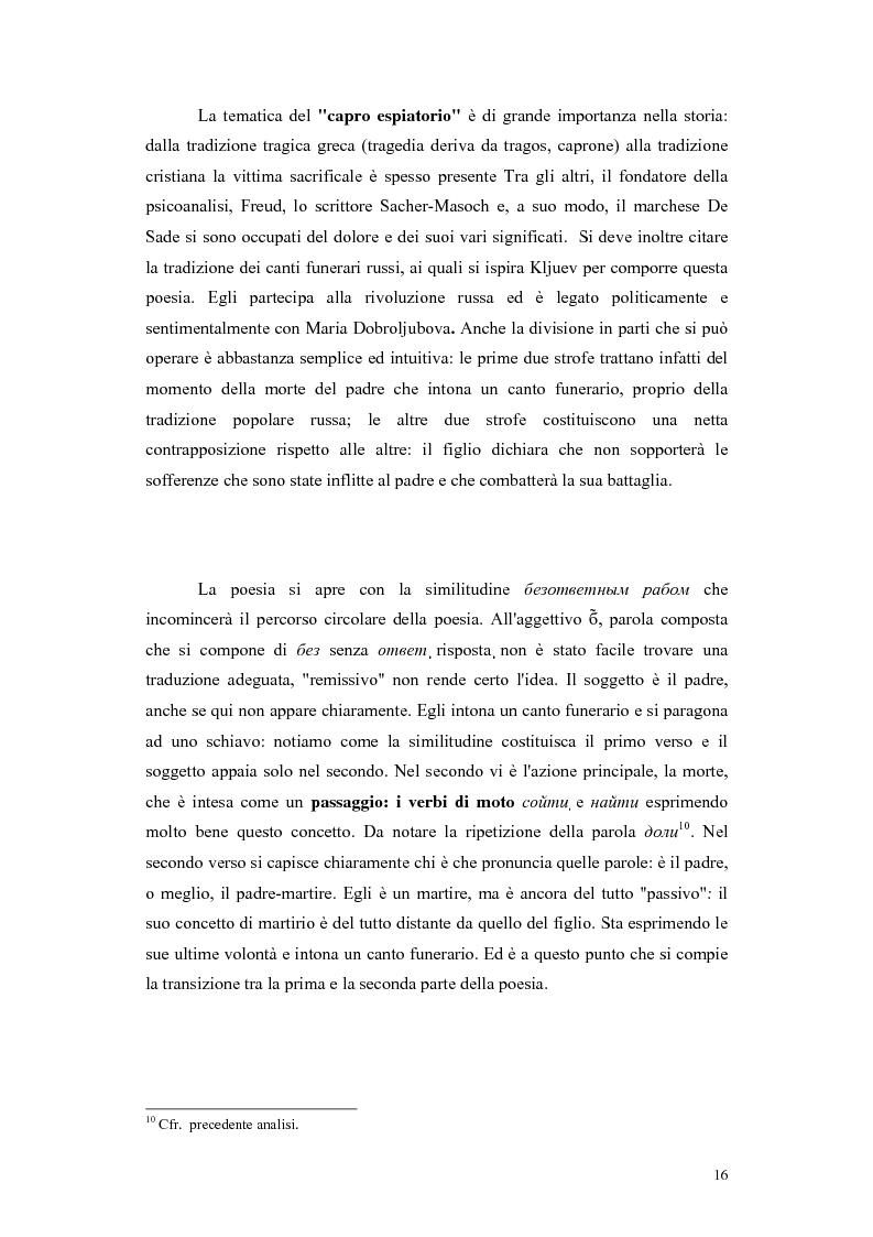 Anteprima della tesi: Kljuev le verità nelle poesie e nella realtà. Kljuev ed alcuni pensatori tedeschi. (Dubbi, problemi e controversie), Pagina 13