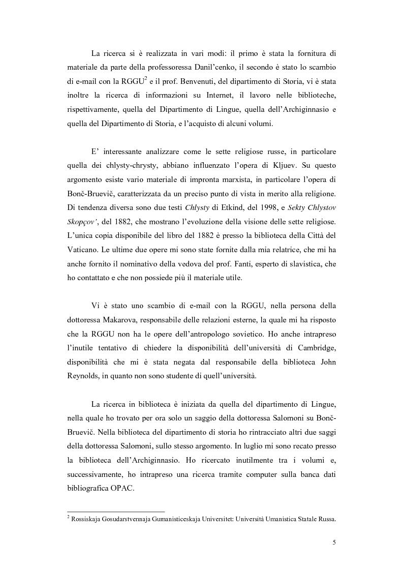 Anteprima della tesi: Kljuev le verità nelle poesie e nella realtà. Kljuev ed alcuni pensatori tedeschi. (Dubbi, problemi e controversie), Pagina 2