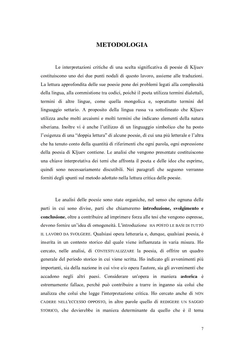 Anteprima della tesi: Kljuev le verità nelle poesie e nella realtà. Kljuev ed alcuni pensatori tedeschi. (Dubbi, problemi e controversie), Pagina 4