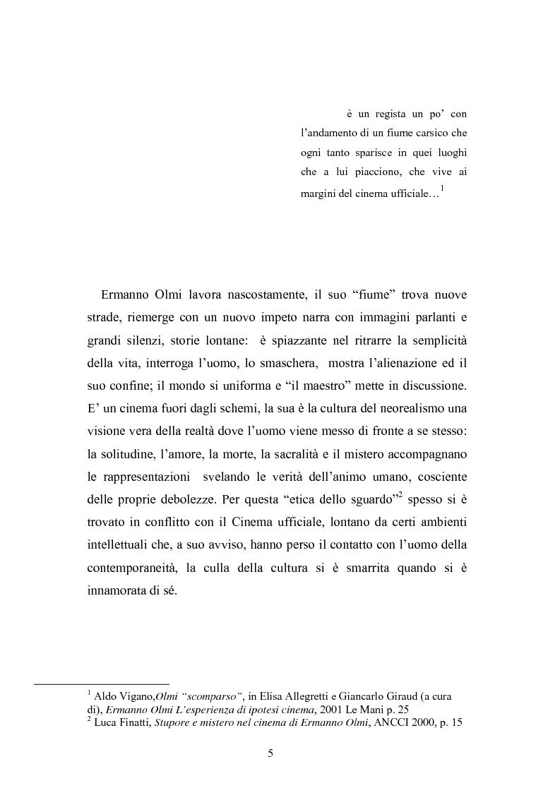 Anteprima della tesi: ''Il mestiere delle Armi'' di Ermanno Olmi: Forma, enunciazione, rappresentazione della morte, Pagina 1