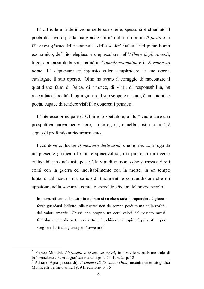 Anteprima della tesi: ''Il mestiere delle Armi'' di Ermanno Olmi: Forma, enunciazione, rappresentazione della morte, Pagina 2