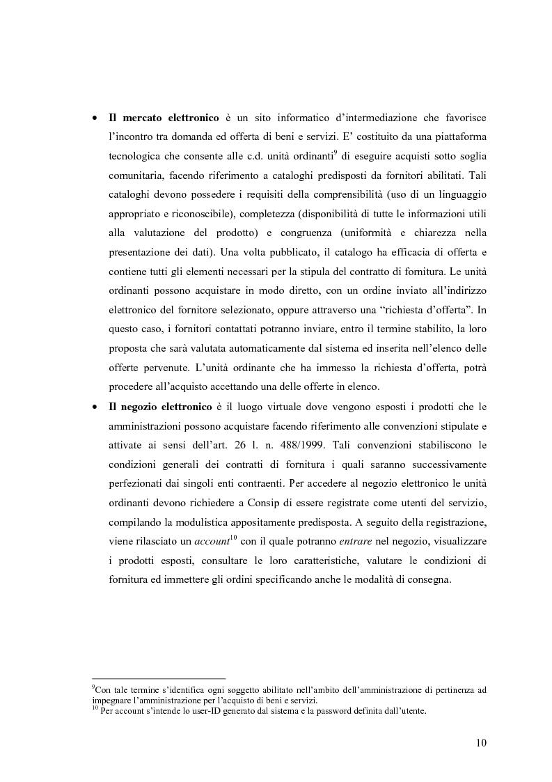 Anteprima della tesi: La centralizzazione degli acquisti e le procedure e-procurement, Pagina 8