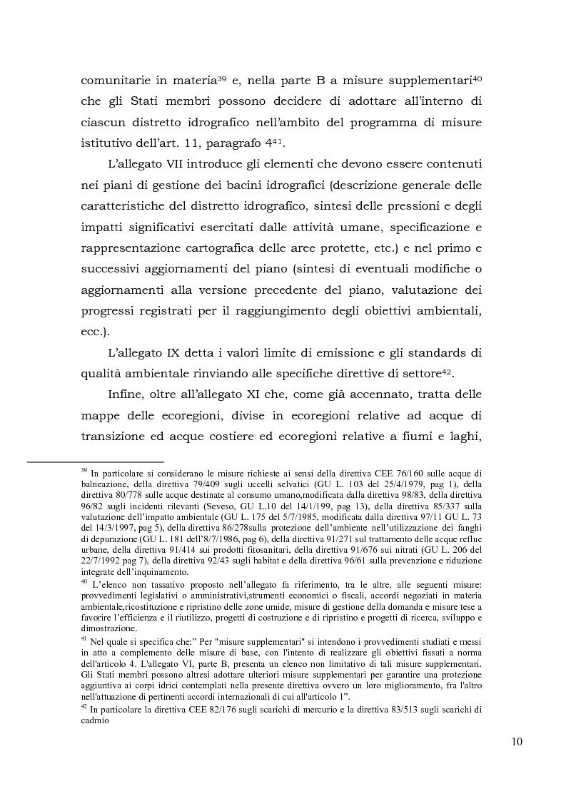 Anteprima della tesi: Acqua. Tutela e gestione nel diritto comunitario e nel diritto interno., Pagina 13