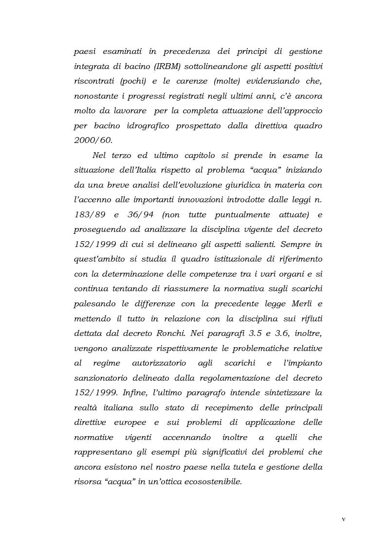 Anteprima della tesi: Acqua. Tutela e gestione nel diritto comunitario e nel diritto interno., Pagina 3