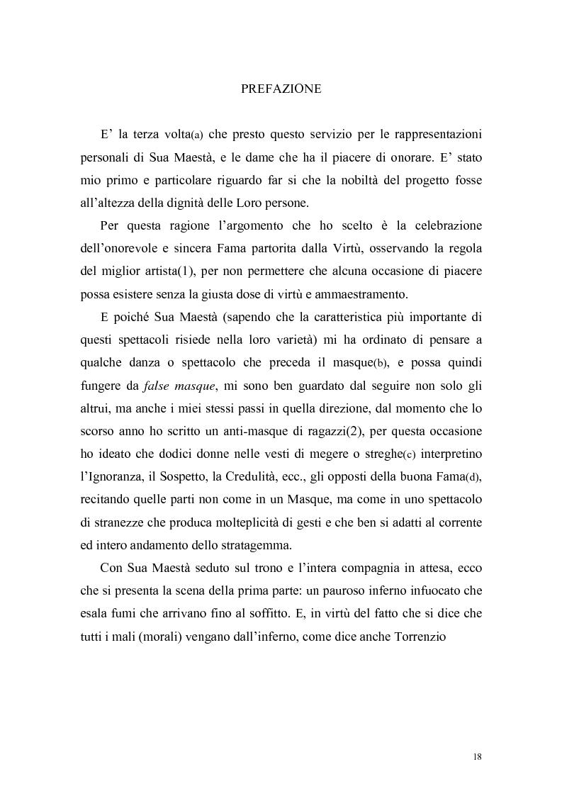 """Anteprima della tesi: """"The Masque of Queens"""" di Ben Jonson, Pagina 15"""