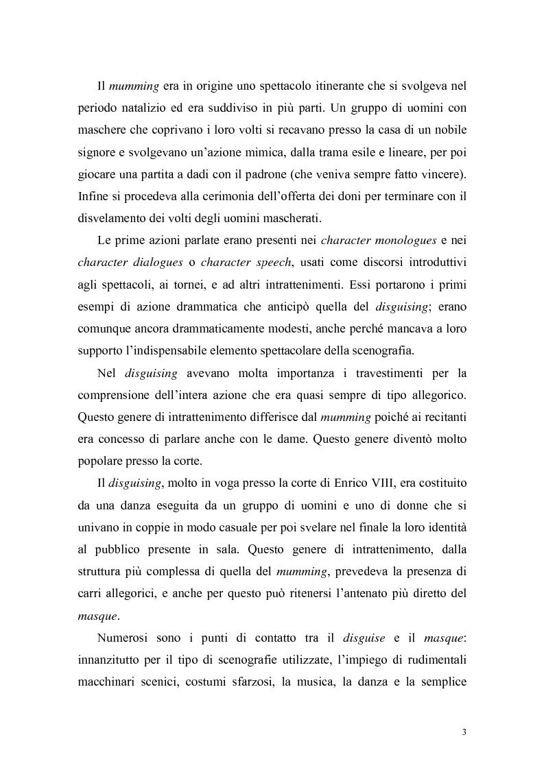 """Anteprima della tesi: """"The Masque of Queens"""" di Ben Jonson, Pagina 2"""