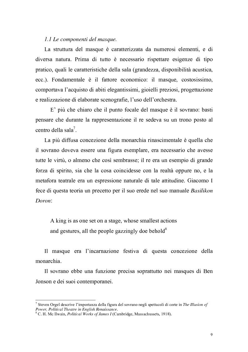 """Anteprima della tesi: """"The Masque of Queens"""" di Ben Jonson, Pagina 8"""