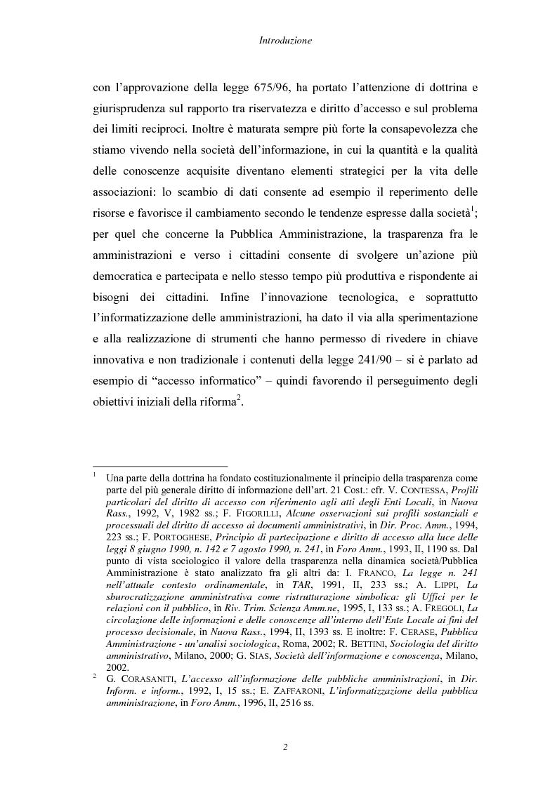 Anteprima della tesi: Trasparenza e informatizzazione nell'Amministrazione Locale, Pagina 2