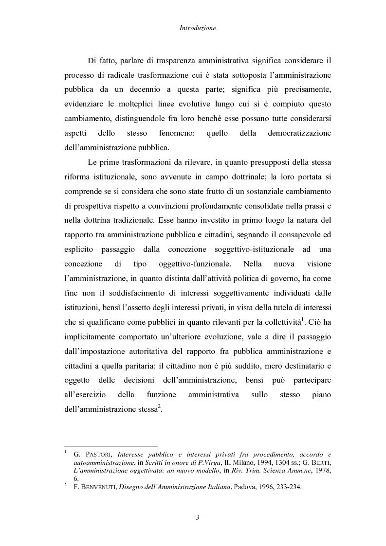 Anteprima della tesi: Trasparenza e informatizzazione nell'Amministrazione Locale, Pagina 3