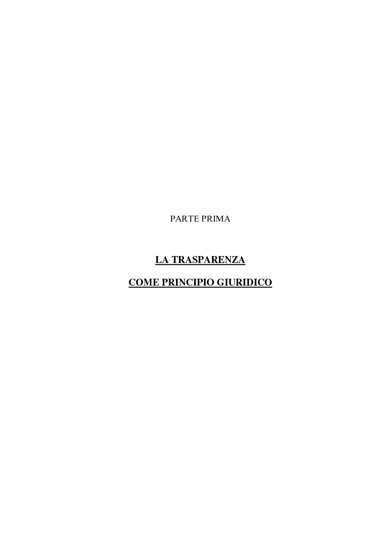 Anteprima della tesi: Trasparenza e informatizzazione nell'Amministrazione Locale, Pagina 8