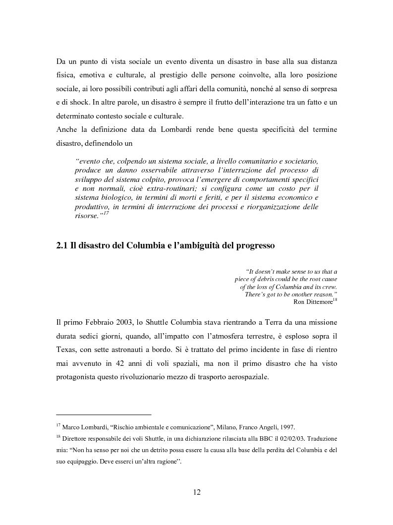 Anteprima della tesi: La comunicazione in Rete nelle emergenze: il caso del disastro dello shuttle Columbia, Pagina 10