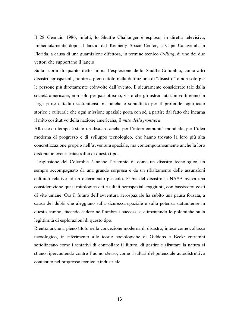 Anteprima della tesi: La comunicazione in Rete nelle emergenze: il caso del disastro dello shuttle Columbia, Pagina 11