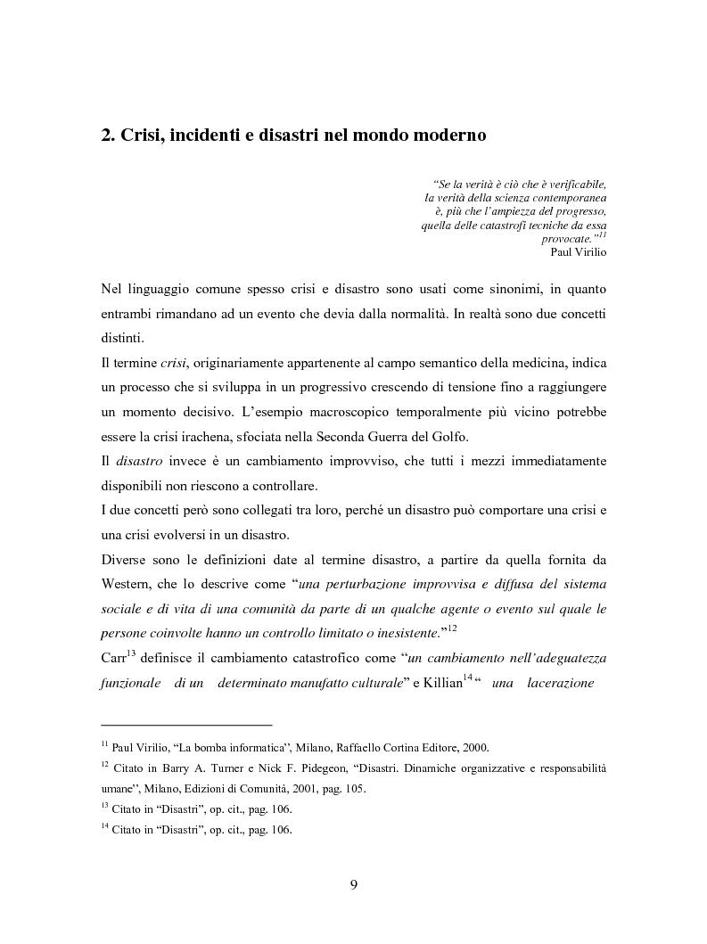 Anteprima della tesi: La comunicazione in Rete nelle emergenze: il caso del disastro dello shuttle Columbia, Pagina 7