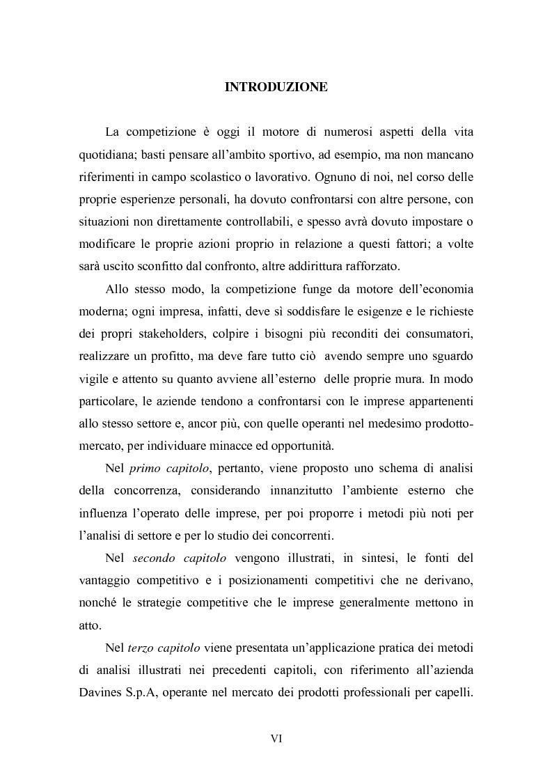 Anteprima della tesi: L'analisi competitiva per le decisioni strategiche. Studio del caso Davines, Pagina 1