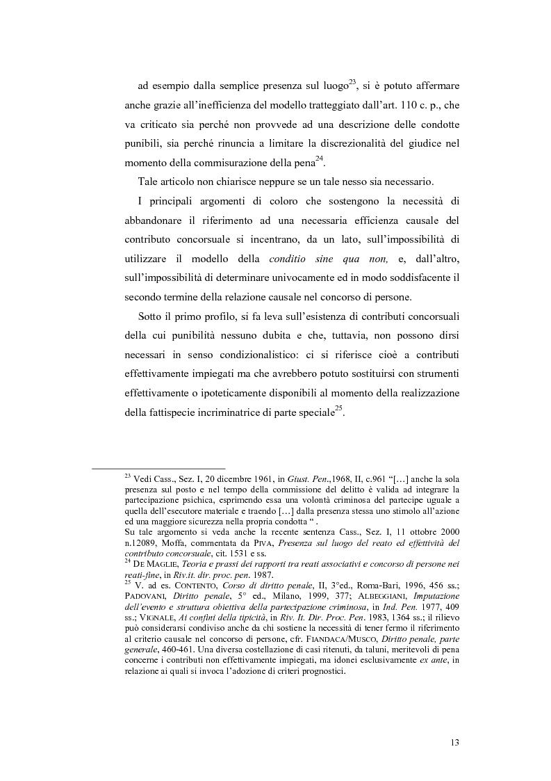 Anteprima della tesi: Il concorso esterno nei reati associativi, Pagina 11