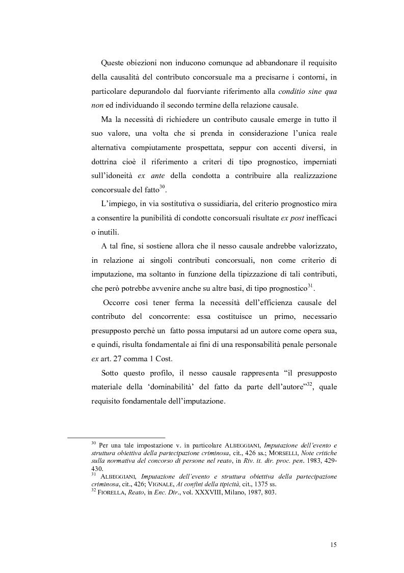 Anteprima della tesi: Il concorso esterno nei reati associativi, Pagina 13