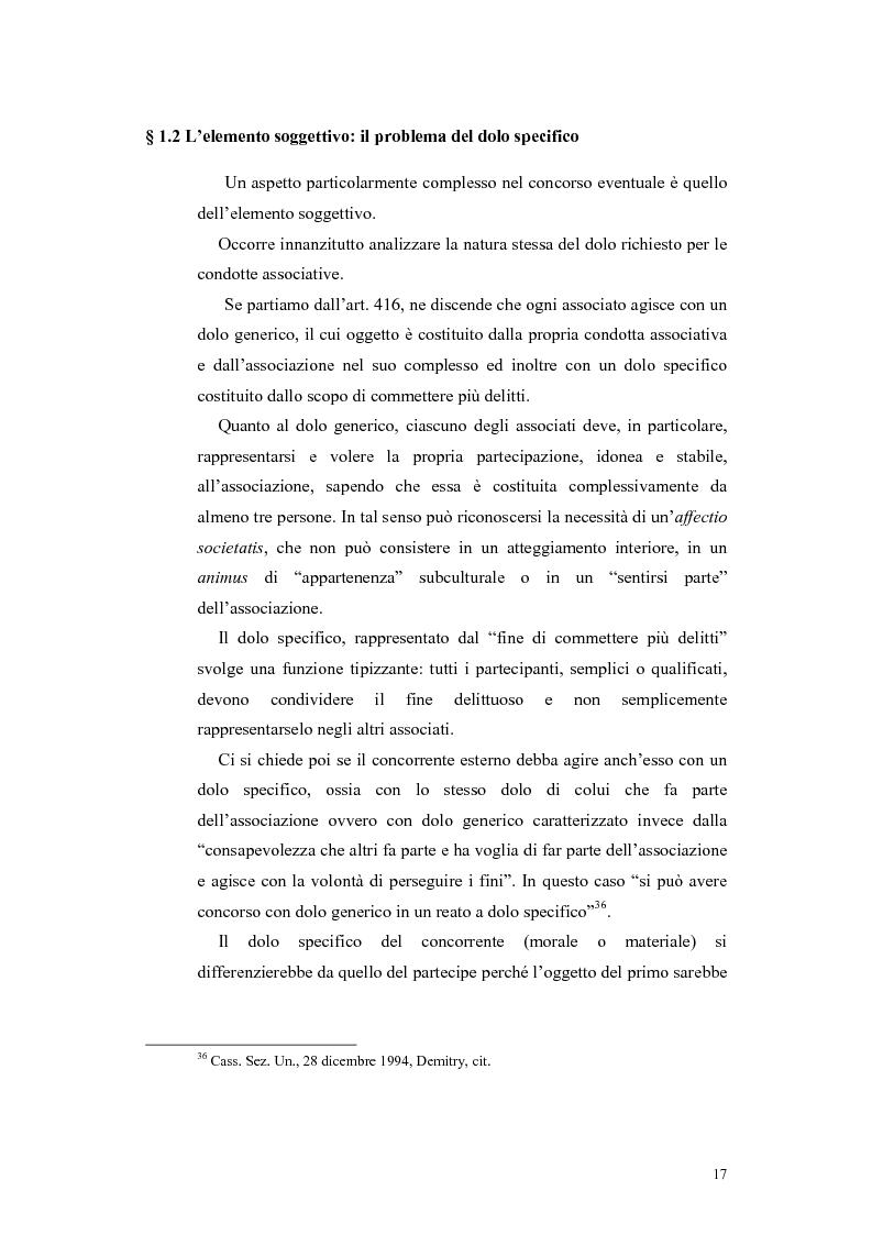 Anteprima della tesi: Il concorso esterno nei reati associativi, Pagina 15