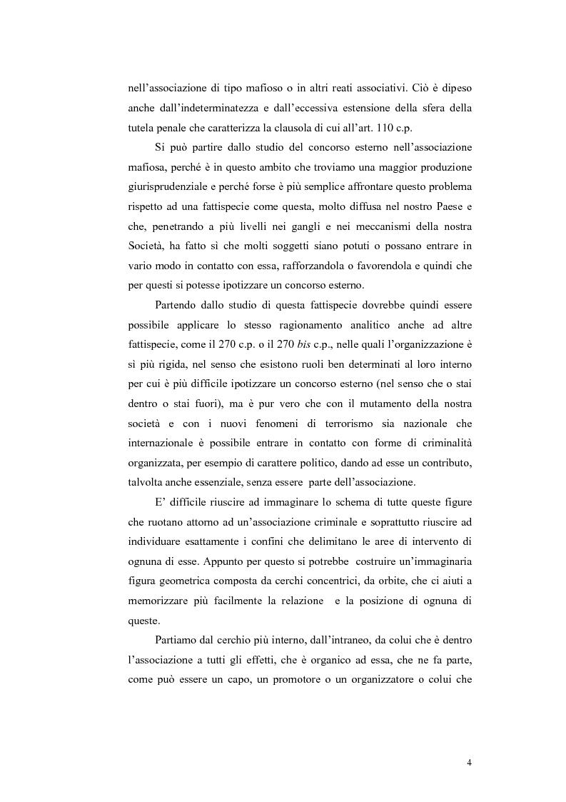 Anteprima della tesi: Il concorso esterno nei reati associativi, Pagina 2