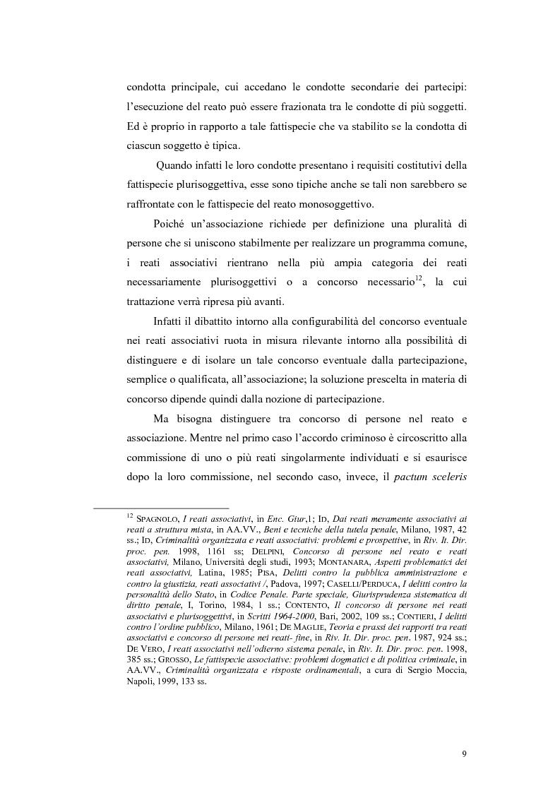 Anteprima della tesi: Il concorso esterno nei reati associativi, Pagina 7