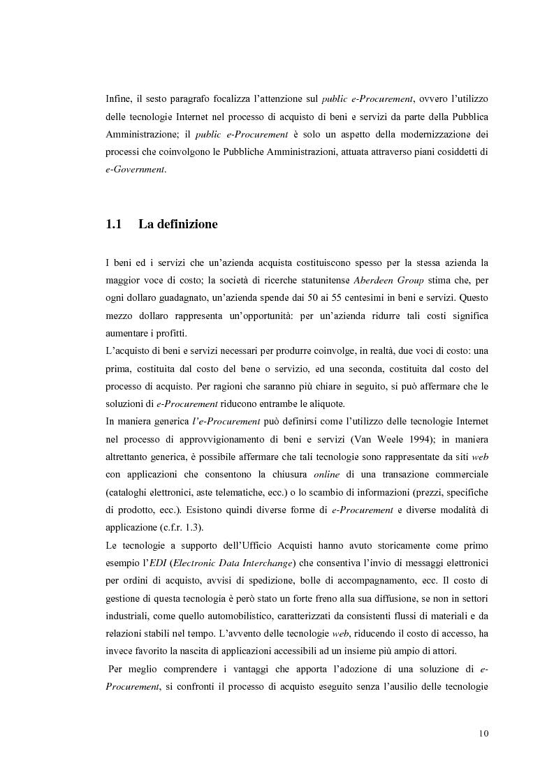Anteprima della tesi: Valutazione dei sistemi di e-Procurement, Pagina 5