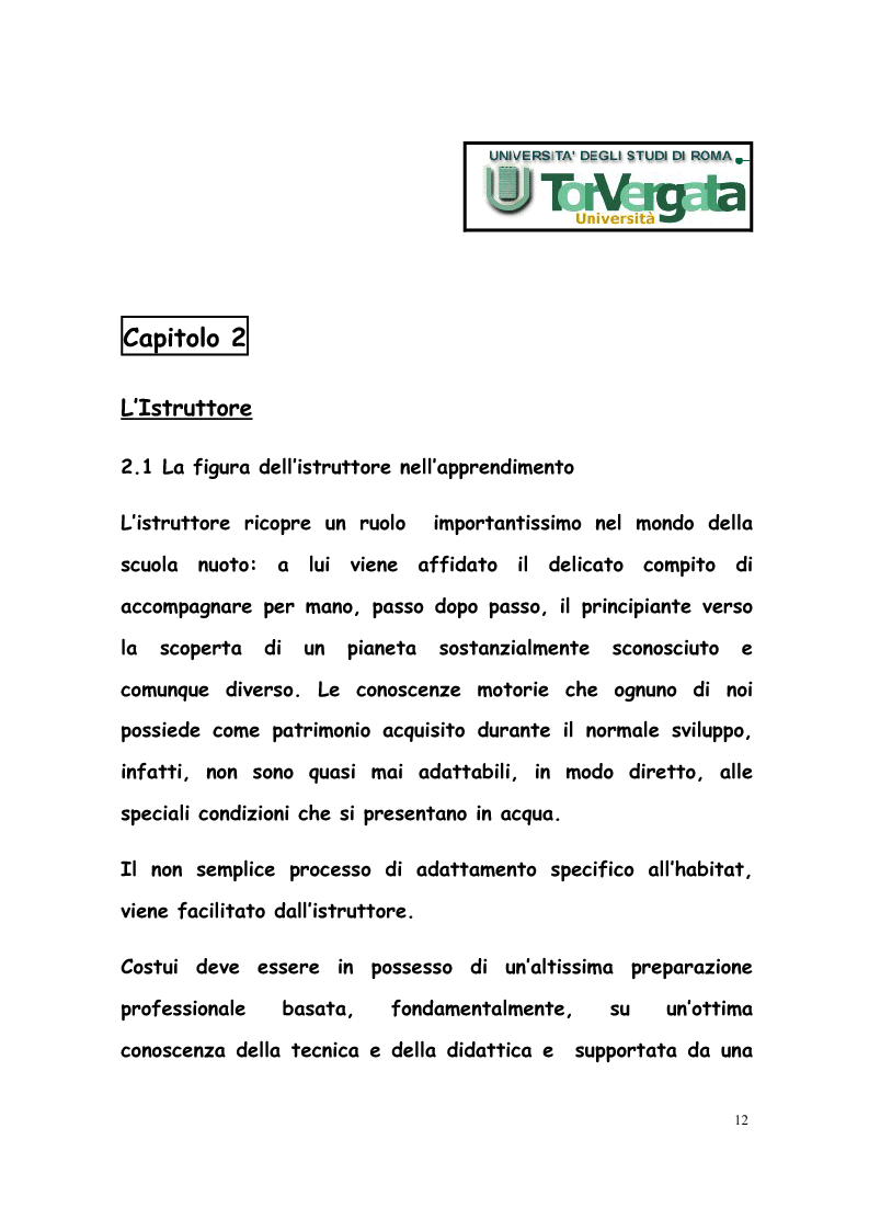 Anteprima della tesi: La formazione di tecnici di nuoto in Italia, Francia, Belgio e Olanda, Pagina 11